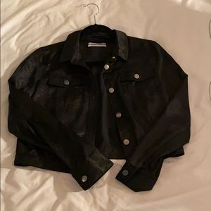 Satin Urban Outfitters Cropped Jacket